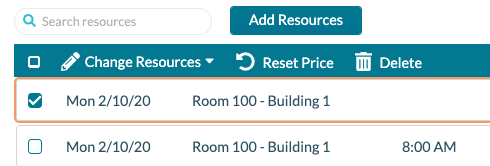 EE Resources - tool bar