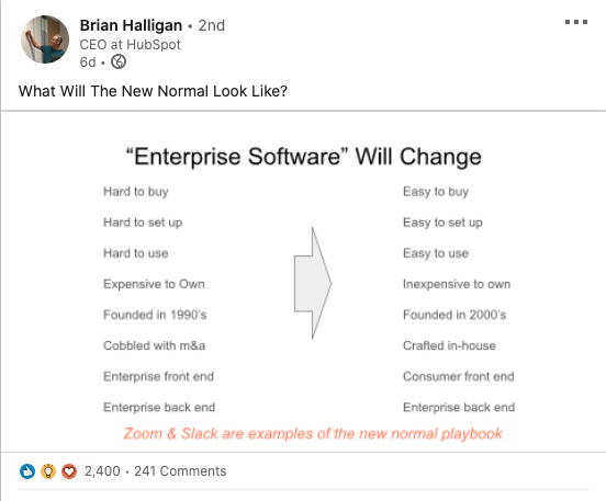brian halligan hubspot new normal slide