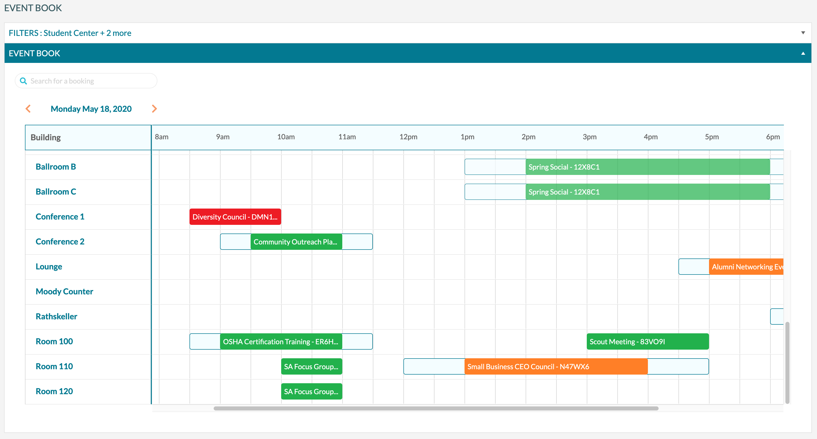 mazevo room scheduling software event book
