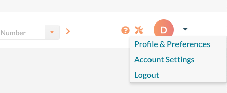 Account Settings -  menu