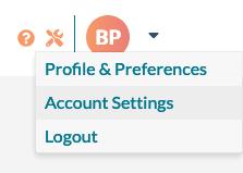 Account Settings Menu Item