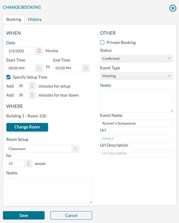 Booking Editor - edit booking