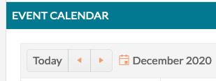 Calendar Navigation Buttons