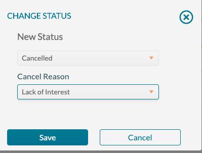 Change Status - new status