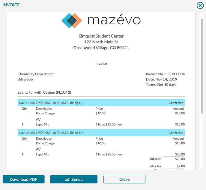 Create Invoices - Generated