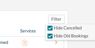 EE Booking Filter - Hide