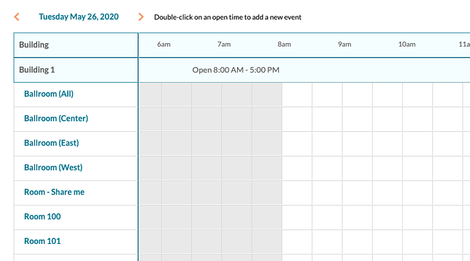 Event Book - Building hours