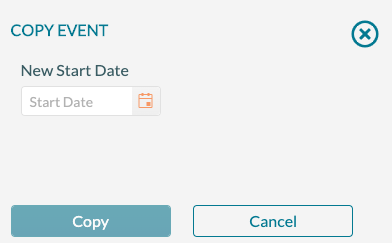 Event Editor - Copy Event - New Date