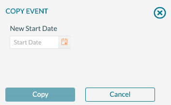 Event panel - copy process