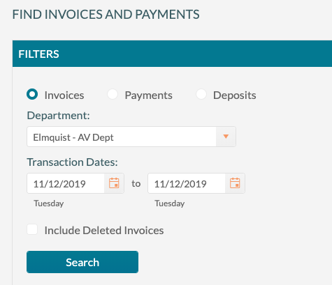 Find Invoices and Payments 1