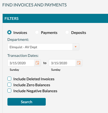 Find Invoices