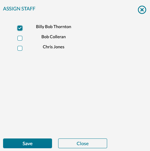 Manage Ops - Assign Staff - Pick Staff Members