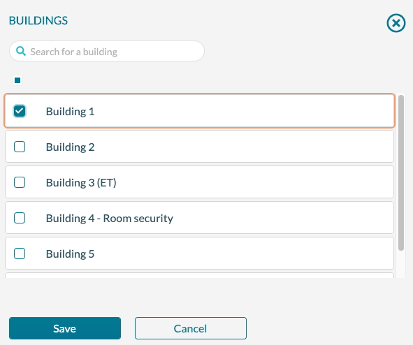 Manage Ops - Building Filter