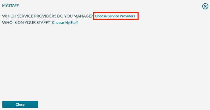 Manage Ops - My Staff - Choose SP