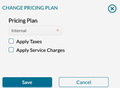 Organizations - Change pricing plan - select new plan