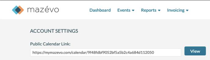 Public Calendar Link