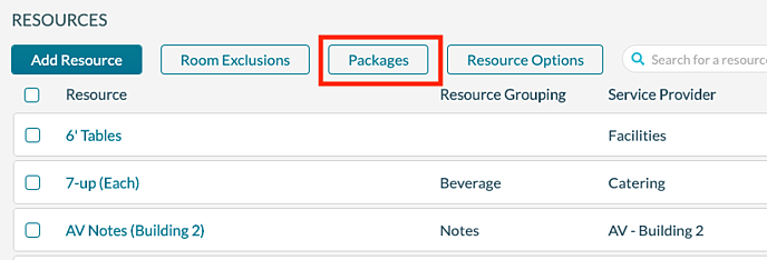 Resources - Packages
