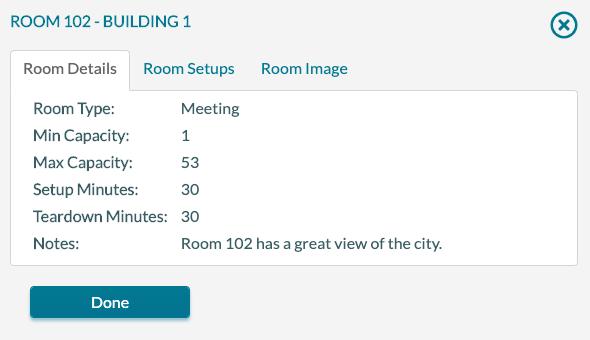 Room Info popup 1