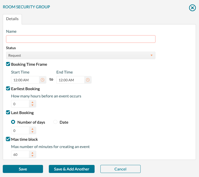 Security Policy - Group NewEdit all fields