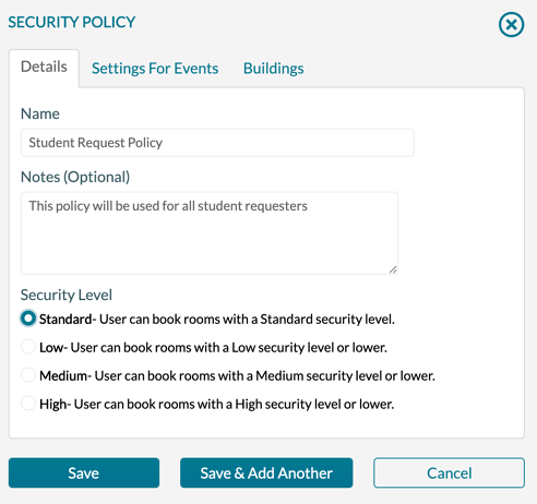 Security Policy - Standard - New