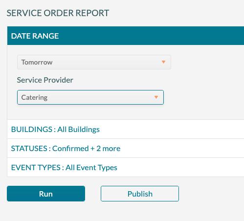 Service Order Report- Setup