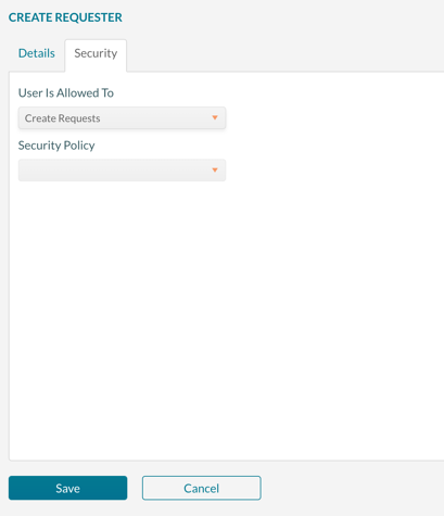 Setting the type or requester account to  be created