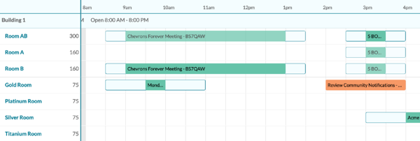 event book example from mazevo room scheduling
