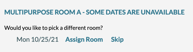 single date room not available