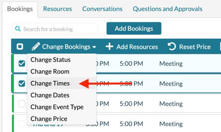 Change Event - Change Times
