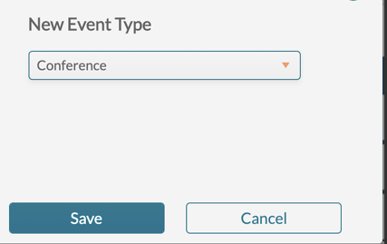 Change event type - select new type(2)