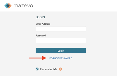 Change password - login screen