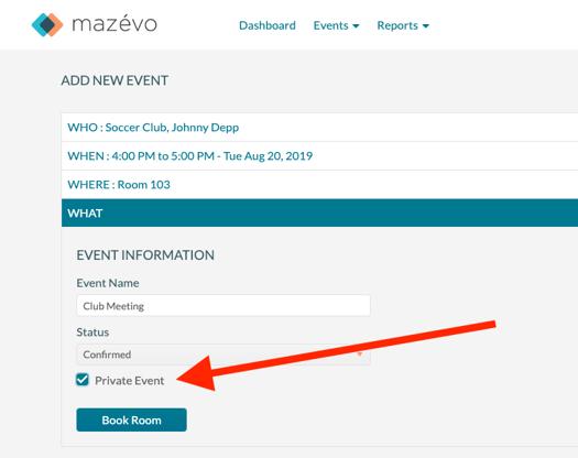 Private Event - Adding new event