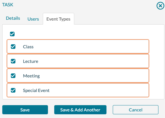 Task - Event Type Trigger