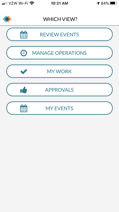 mazevo mobile app menu