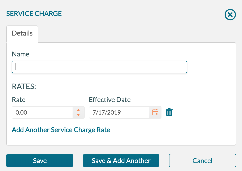 service chage - add