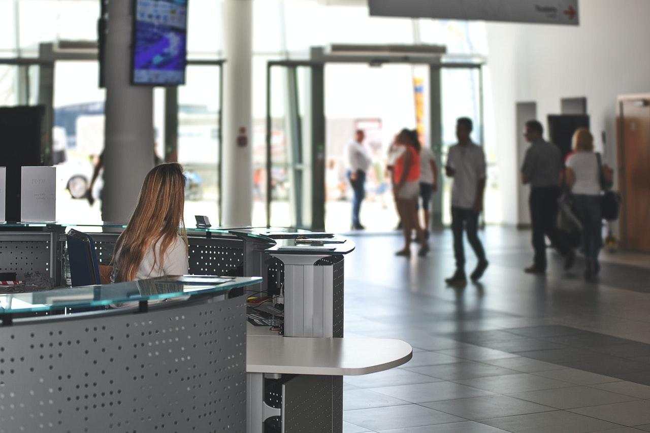 event reservation system at information desk