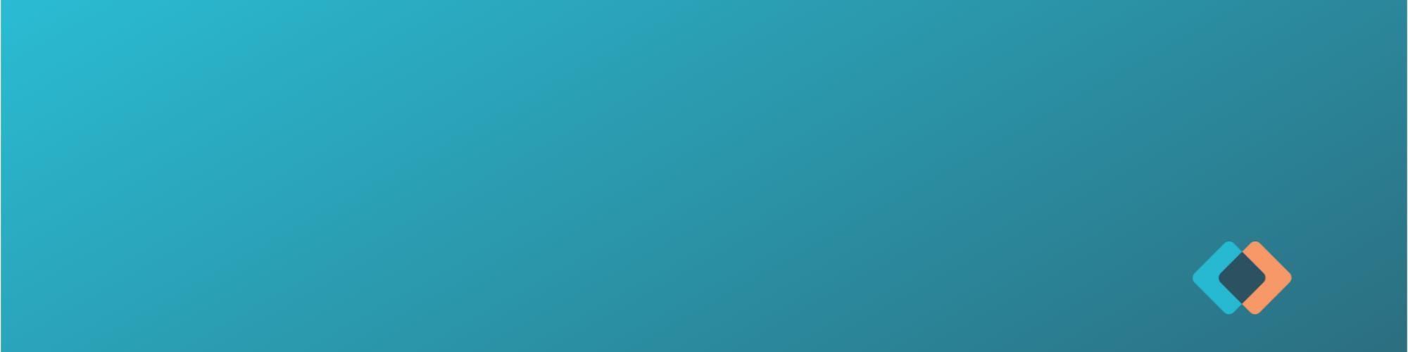 blue header bckground with mark