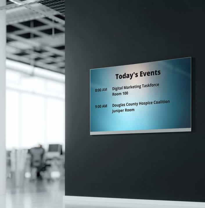 digital display with todays events 2