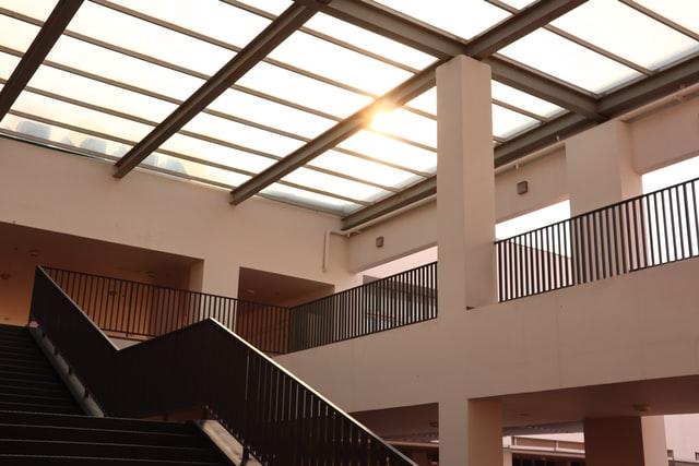 high school staircase