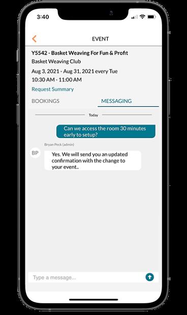 mazevo messaging on phone